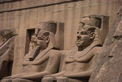 Egyptian sculptures Royalty Free Stock Photography