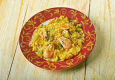 Egyptian seafood rice Stock Images
