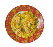 Egyptian seafood rice Royalty Free Stock Photo
