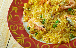 Egyptian seafood rice Royalty Free Stock Image