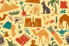 Egyptian seamless background Royalty Free Stock Photos