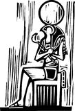 Egyptian Sitting Osiris Royalty Free Stock Images
