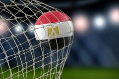Egyptian soccerball in net. Image of Egyptian soccerball in net Royalty Free Stock Photography
