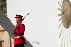 Egyptian soldier. CAIRO, Egypt - november 2012: an egyptian soldier are attempt the guard at the  Unknown Soldier Memorial in Cairo , egypt 2012 Stock Photography