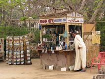 Egyptian souvenir shop Stock Photos