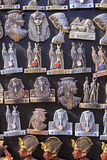Egyptian souvenirs and statues in small shop ,Egypt. Stock Photography