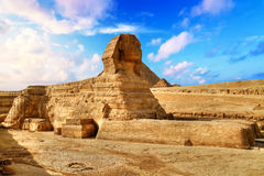 Egyptian Sphinx in Giza Royalty Free Stock Photo