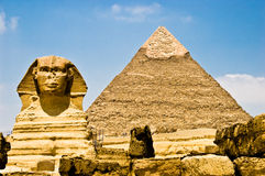 Egyptian Sphinx Guarding Phara Royalty Free Stock Photo