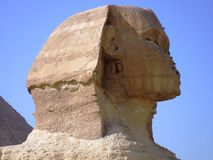 Egyptian sphinx head detail photo Stock Images