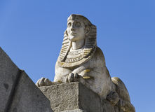 Egyptian sphinx in Park of the Pleasant Retreat Royalty Free Stock Photography