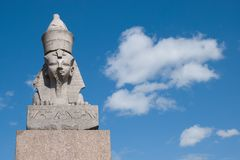 Egyptian sphinx in Saint-Petersburg Stock Photography