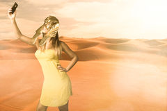 Egyptian sphinx take a selfie Stock Photo