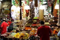 Egyptian Spice Bazaar in Istanbul, Turkey Stock Image
