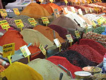 Egyptian spice bazaar in Istanbul, Turkey Stock Image