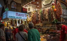 Egyptian Spice Bazaar in Istanbul royalty free stock photo