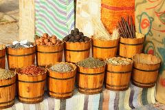 Egyptian spice market Royalty Free Stock Images