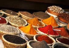 Egyptian spice market Stock Photo