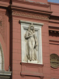 Egyptian Statue. Statue on a  the Egyptian Museum wall in Cairo Royalty Free Stock Photography