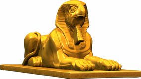 Egyptian statue. A golden egyptian statue Royalty Free Stock Image