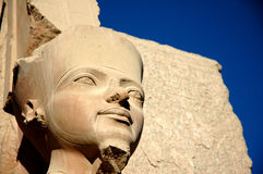Egyptian statue. Statue at the Karnak temple complex, Egypt Stock Photo