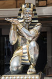 Egyptian statue. Close up of a Egyptian character Stock Images