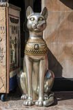 Egyptian statue. Close up of an Egyptian character Royalty Free Stock Photos