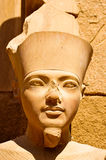 Egyptian statue at Luxor. Detail of a statue from Luxor temple in Egypt Stock Photo