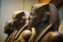 Egyptian statues. Natural History Museum, London Stock Photos