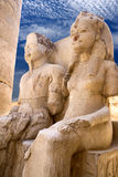 Egyptian Statues at Temple of Luxor Stock Photos