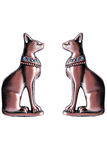 Egyptian statuettes of Bastet Stock Images
