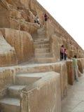 Egyptian step pyramid closeup. Royalty Free Stock Image