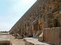 Egyptian step pyramid closeup. Royalty Free Stock Photo
