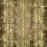Egyptian Style Ancient 3d Greek Vector Seamless Pattern Stock Photos