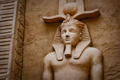 The Egyptian-styled sculpture Stock Photos
