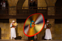 Egyptian Sufi Dancing Motion Blur Colorful Royalty Free Stock Photography