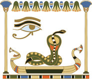 Egyptian sun boat composition Stock Image
