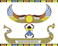 Egyptian sun boat with scarab Royalty Free Stock Photo