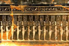 Egyptian symbols. Detail of ancient Egyptian symbols Stock Photos