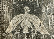 Egyptian symbols. Detail of ancient Egyptian symbols Stock Images