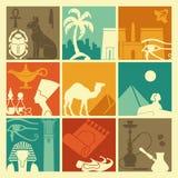 Egyptian symbols Stock Photo