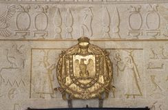 Egyptian symbols on Villa of San Martino on the island of Elba in the Tuscan Archipelago of Italy, Europe, where Napoleon Bonapart Stock Images