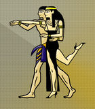 Egyptian Tango Dance. Two Egyptian couple dancing Tango royalty free illustration