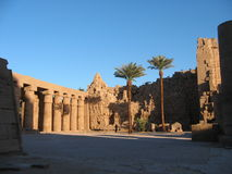 Egyptian temple. Ancient temple in Egypt. Karnak temple. Luxor, Egypt Stock Photography
