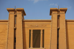 Egyptian temple. Egyptian stone temple with clear sky Royalty Free Stock Photography