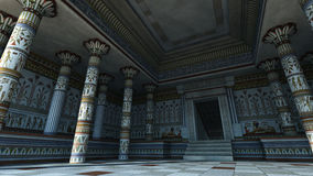 Egyptian Temple. 3D rendering of interior of an Egyptian style temple Royalty Free Stock Photo