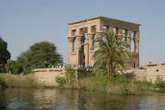 Egyptian temple Royalty Free Stock Photo