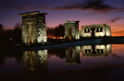 Egyptian temple. Of Debod in Madrid, Spain stock photography