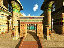 Egyptian temple Royalty Free Stock Images