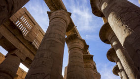 Egyptian temple-1. The day of the ruins of the Egyptian temple Stock Photo
