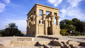Egyptian temple02. During the day the Sun Temple in Egypt Royalty Free Stock Photography